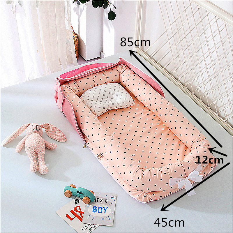 9 Colors Portable Baby Nest Bed Crib Travel Newborns Cots Nursery Sleep Nest Infant Cradle Baby Bassinet Children's Bumper Crib