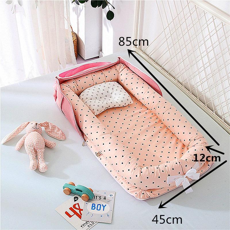 9 Colors Portable Baby Nest Bed Crib Travel Newborns Cots Nursery Sleep Nest Infant Cradle Baby Bassinet Children's Bumper Crib