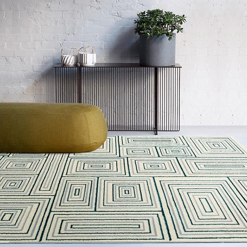 Tapis géométrique de style moderne de grande taille, tapis de sol de décoration de maison populaire INS, tapis de villa de grande taille