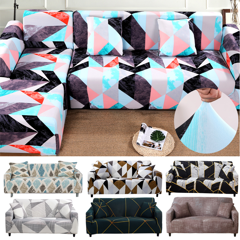 2020 New Printed Sofa Covers For Living Room Elastic Stretch Slipcover Sectional Corner Sofa Covers 1/2/3/4-seater