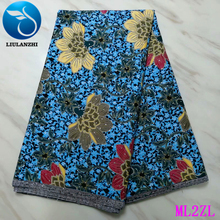 LIULANZHI Prints Wax with Stones African Ankara Fabric 2019 New Polyester Nigerian ML2ZL61