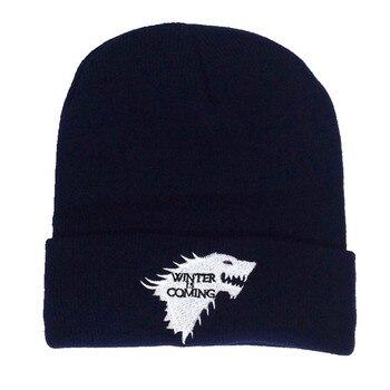 Juego de tronos casa Stark gorro boina de punto Unisex de ajustable sombreros de cosplay Canis Dirus invierno