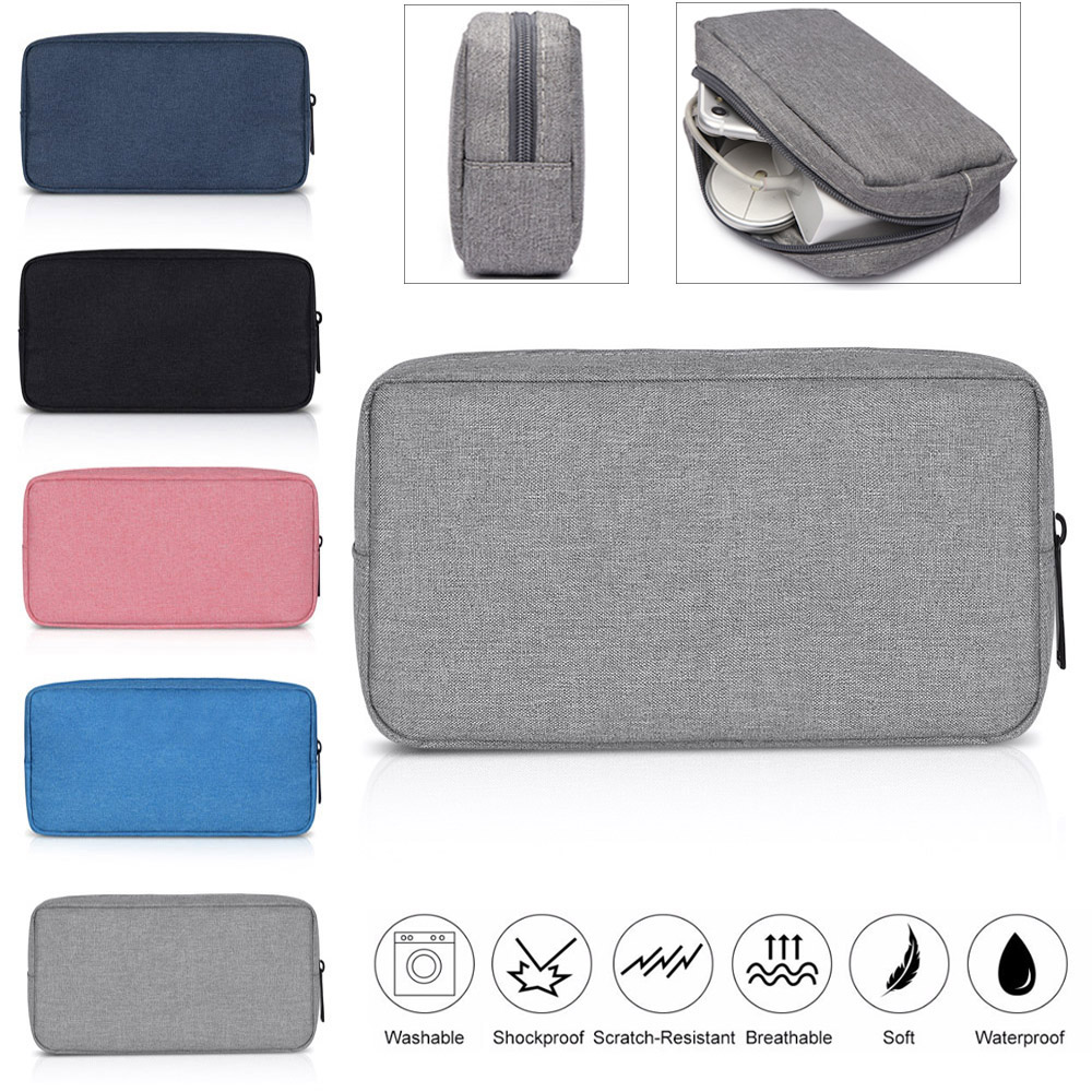 New Portable Digital Storage Bags Organizer USB Gadgets Cables Wires Charger Power Battery Zipper Cosmetic Bag Case Accessories