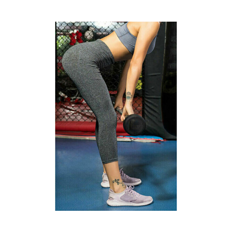 arrival Women High Waist Push Up Stretch Workout Pants Slim Gym Fitness Sports Capris 3/4 Cropped Leggings With Pocket