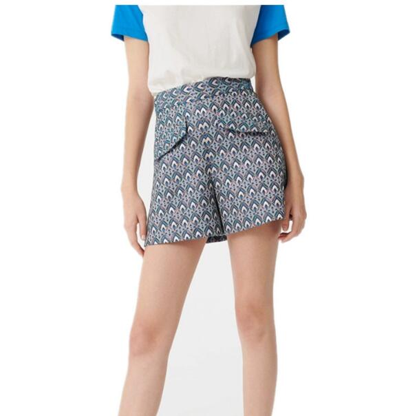 2020 Spring And Summer New WOMEN'S Geometric Printed Jaquard Shorts