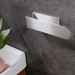Suporte de toalha de mão auto adesivo barra de toalha do banheiro de aço inoxidável toalheiro titular fixado na parede rack de papel organizador do banheiro