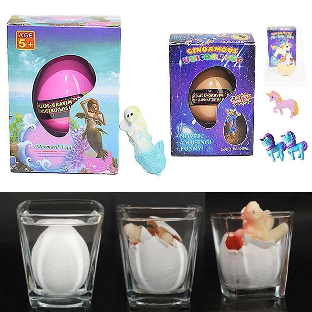Magic Mermaid Hatching Egg And Unicorn Hatching Egg Pets Revivable Egg Growing In Water Inflated Easter Eggs Children Toys