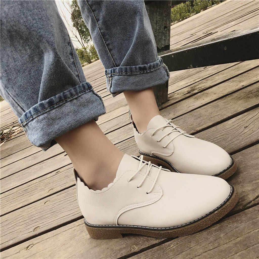 2019 ใหม่แฟชั่น Retro รองเท้าสตรีสไตล์ Elegant Tassel ต่ำ-heele Lace-Up Non-Slip โรมันรองเท้าสไตล์ลำลองรองเท้าซิป