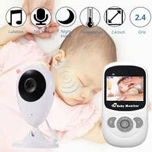 Wireless LCD Audio Video Color Baby Monitor Radio Nanny Music Intercom IR 24h Baby Security Camera Kids Walkie Talkie Babysitter(China)