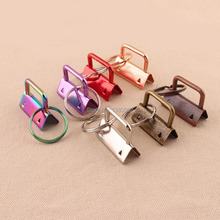 LLavero de metal 20 piezas de 32mm con anillo dividido, arcoíris/púrpura/rojo/plata/oro rosa/bronce/cobre