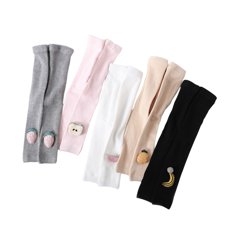 High Quality Children Leggings For Girls  Newborn Baby Lovely Fruits Solid Tights Kids Autumn Clothes Accessories Cropped Pants