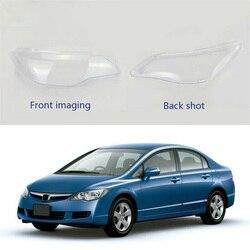 Para Honda Civic 2006-2008 faro Shell Lamp Shade cubierta de lente transparente cubierta de faro de cristal