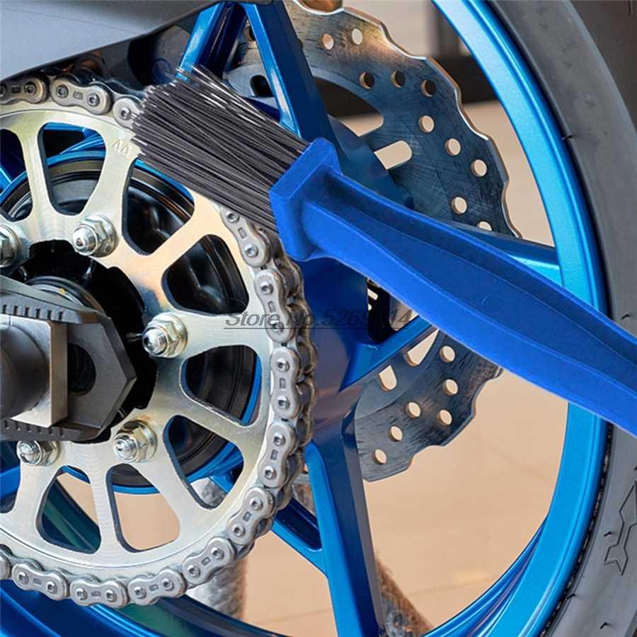 Rantai Sepeda Motor Sikat Cleaner Mencakup untuk Guzzi V7 BMW R100 Ninja 650 Hadiah KTM 450 SXF KLX Yamaha JOG 3kj Karting KTM