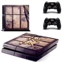 Sekiro gölgeler iki kez PS4 çıkartmalar PlayStation 4 cilt Sticker çıkartmaları PlayStation 4 için PS4 konsolu ve denetleyici Skins vinil