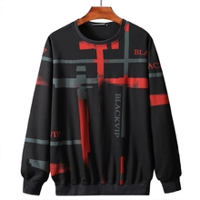 new plus size 2XL-9XL Men's Round Neck Pullover Sweater Loose Long Sleeve T-Shirt Bottoming Hoodie Men's Jacket plus size round neck cut out t shirt