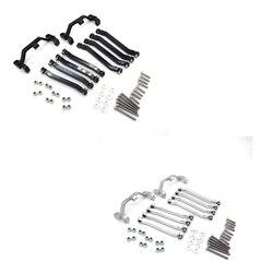 FBIL-металлические шасси Тяговые стержни тяговое соединение Подвески крепление для MN D90 D91 D99 MN90 MS 1/12 RC автозапчасти