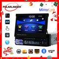 Versenkbare 1 din 7 zoll Auto Radio Touch Screen Bluetooth MP4 MP5 Video Player Stereo unterstützung FM TF USB Spiegel link Hinten Kamera
