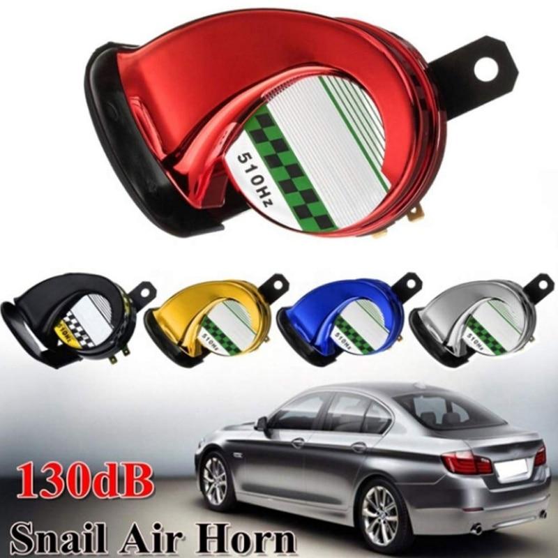 12V 130DB Universal Car Horn Snail Waterproof Signal Horn Car Horns Signal For Auto Vehicle Trucks Siren Car Accessories