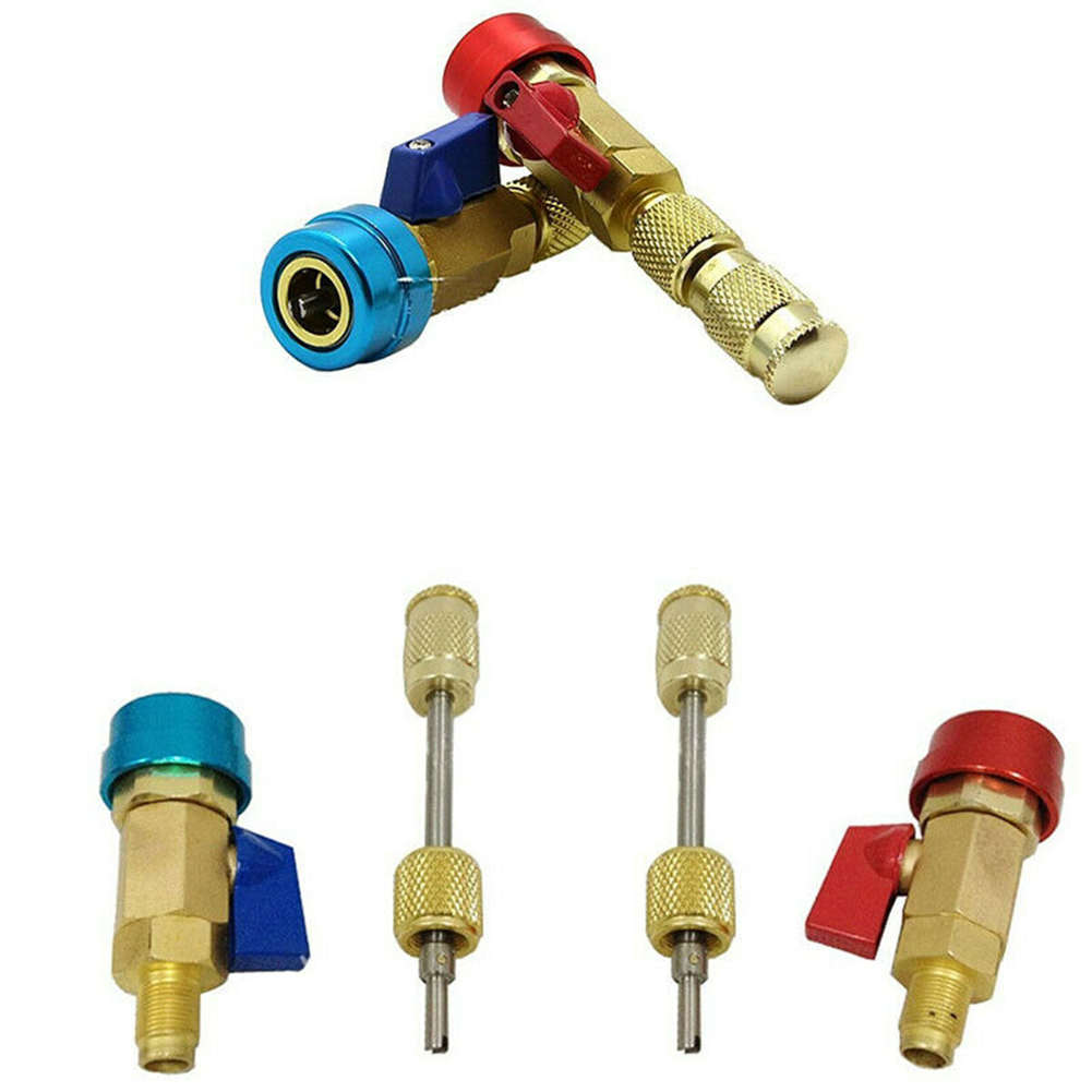 2pcs Car Air Conditioning Valve Core <font><b>R134A</b></font> Quick Remover Low Pressure Refrigerant <font><b>Freon</b></font> <font><b>Adapter</b></font> Kit image