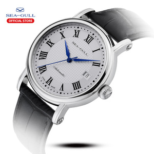 Image 2 - 2019 חדש שחף עסקי שעון גברים מכאני שעון 50 מטרים עמיד למים עור אופנה גברים של שעון 819.368