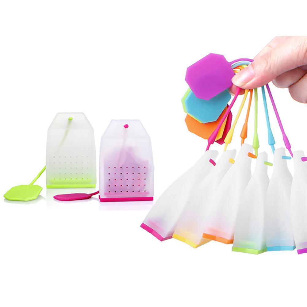 2Pcs Silicone Loose Leaf Tea Infusers Tea Bag Shape Herbal Spice Strainer Filter Tea Infusers