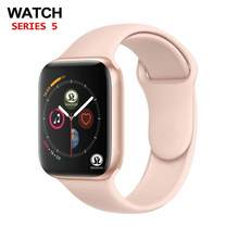 90% off 42mm Smart Uhr Serie 4 Uhr Push Nachricht Bluetooth Konnektivität Für Android-handy IOS apple iPhone 5 7 8 X Smartwatch(China)