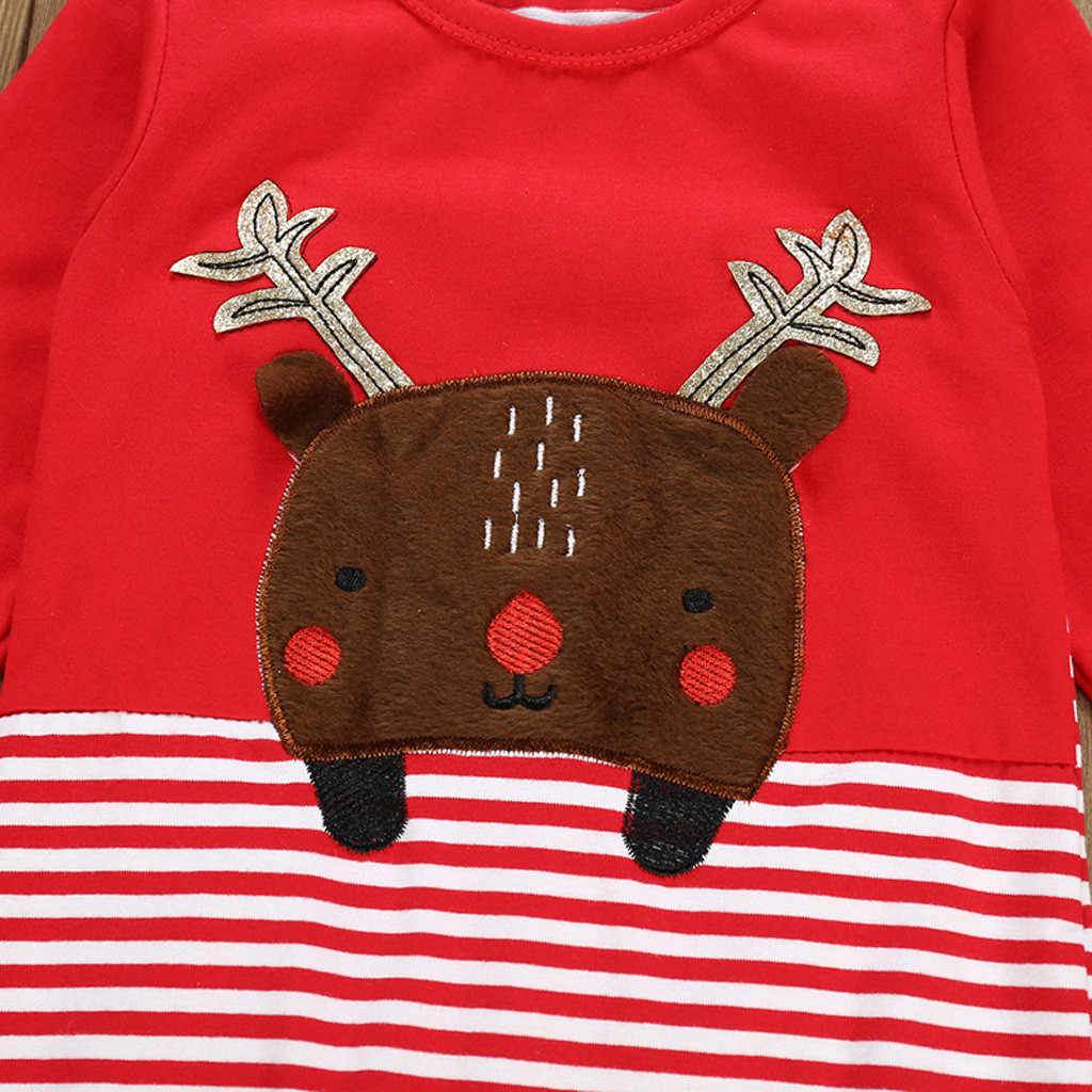 ARLONEE Navidad bebé niños niñas manga larga dibujos animados ciervo romper niños invierno traje de nieve Santa ropa mono trajes CS17