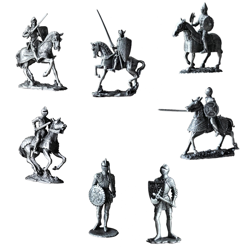[MGT]Classical European Medieval Tin Soldier Warrior Character Statue Decoration Creative Decoration Crafts Gift
