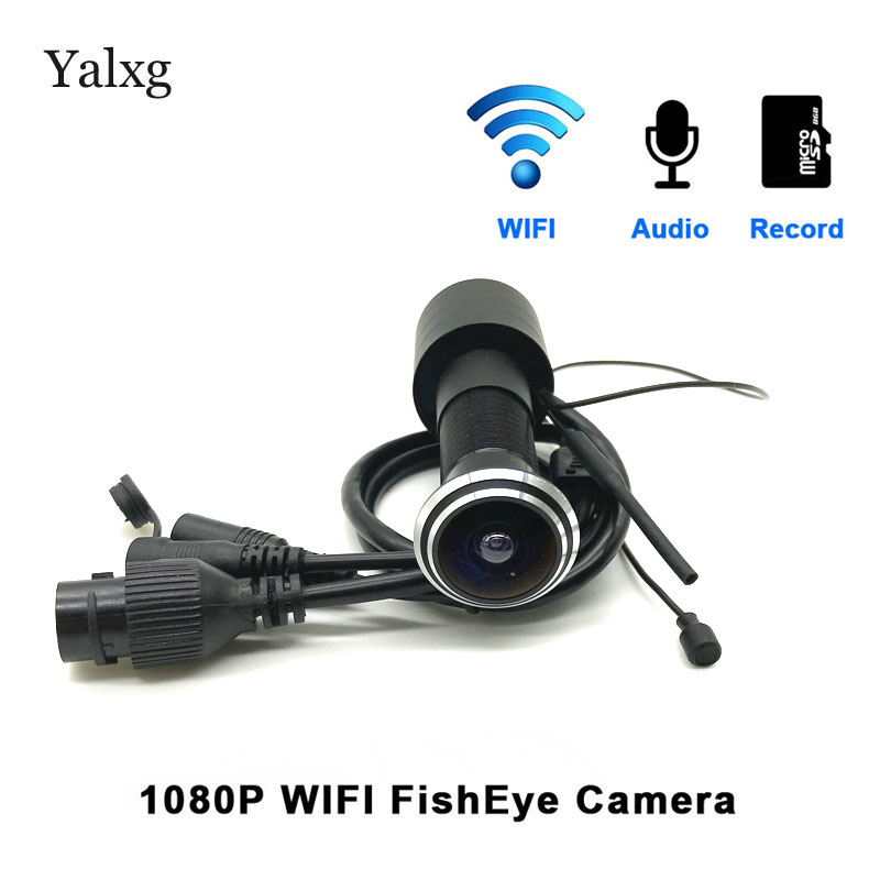 Home Security 1080P Wi-fi Door Eye Hole Camera Mini Peephole IP P2P Motion Sensor Video Onvif Camera TF Card/Audio Supported