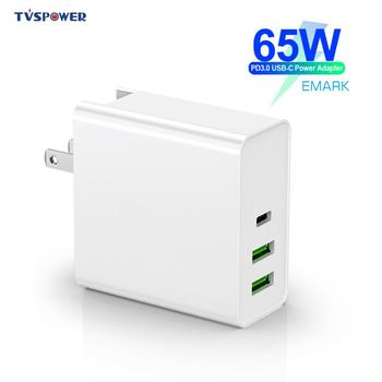 65W 60W/45W/30W 3 Port USB PD Fast Charger QC 3.0 For Switch Macbook Air Pro Type C For iPhone 8 XR Samsung Xiaomi Wall Charger