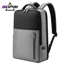 BOPAI 2020 Men's Backpack Waterproof Daypacks USB Charging Anti Theft Backpacking Back Pack Male Bag For 15.6 Inch Laptop