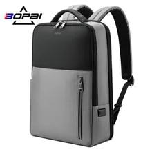Male Bag Backpacking Laptop Anti-Theft BOPAI Waterproof Usb-Charging Men