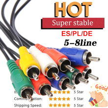 Alta qualidade europa 6 líneas cabo av para receptor de satélite gtmedia v8x/v8 nova/v9 super