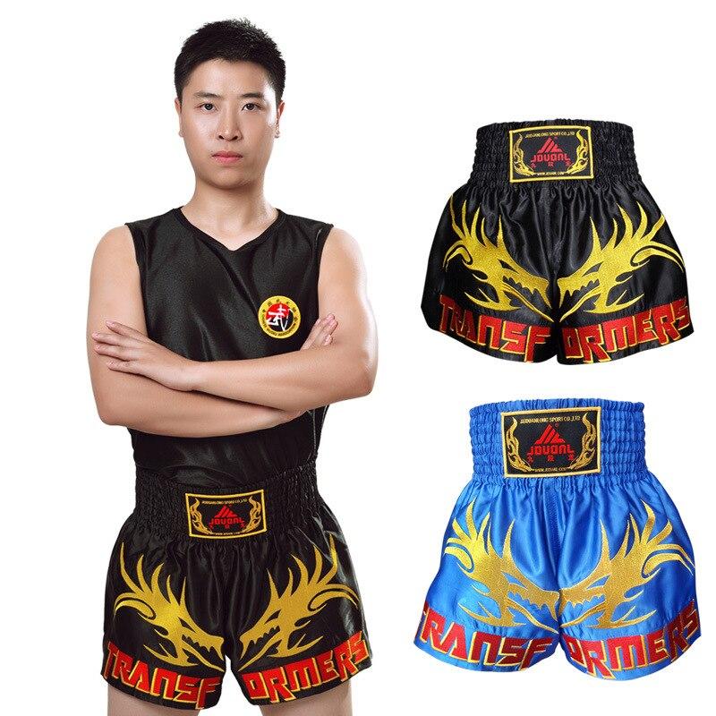 JDUanL Children Adult Boxing Shorts Profession Clothes For Sanda MMA Muay Thai Shorts Boxing Wrestle Pants Men And Women