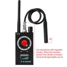 1mhz-6.5ghz k18 multi-função anti-espião detector câmera gsm áudio bug finder gps sinal lente rf rastreador detectar produtos sem fio