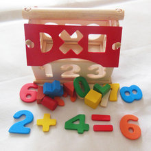 Kids Toys Digital Number House Building Blocks Educational Learning Intellectual Toys For Children Birthday Best Gifts peppa pig toys doll train car house scene building blocks action figures toys early learning educational toys birthday gift