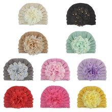 Зимняя Теплая Вязаная Шапка бини для малышей одноцветные шляпы