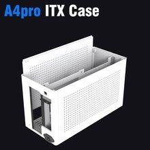 Itx mini caso a4 pro chassis/sfx fonte de alimentação/240/280 água de refrigeração/liga alumínio cnc (com cabo de extensão)