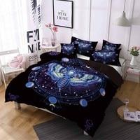 Butterfly Comforter Set Outer Space Galaxy Bedding Set Black Bed Linen Set Queen King Boys Duvet Cover Set Home Bedding 2/3PCS