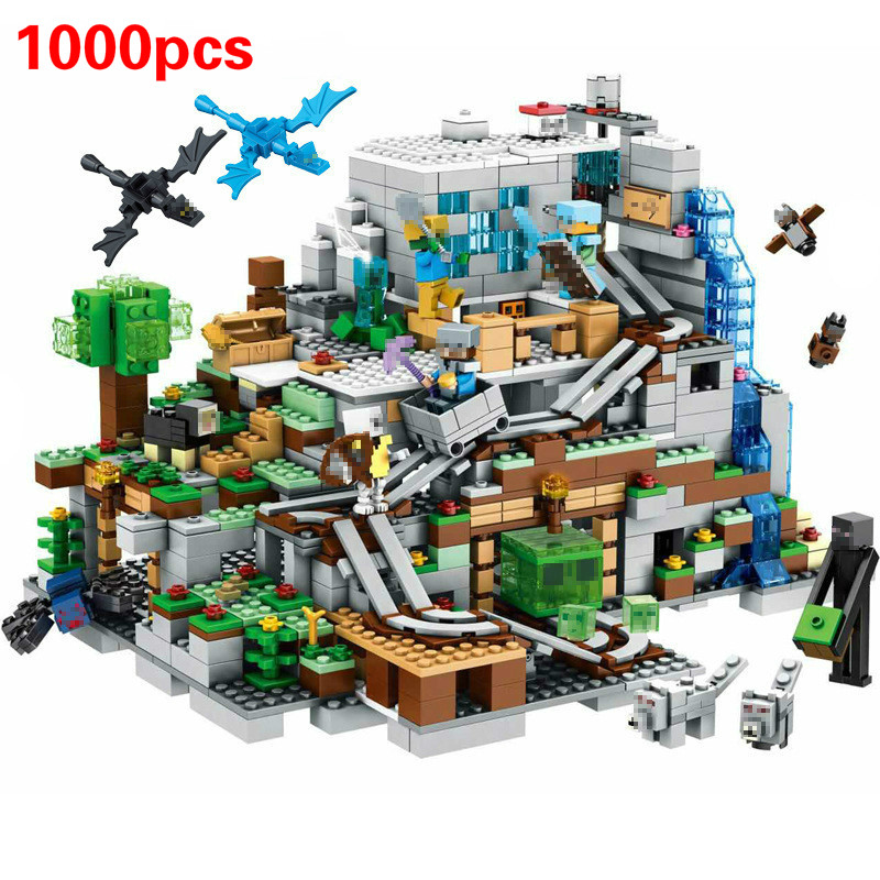 Mountain Cave Small Version Building Block With Action Figures Compatible MinecraftINGlys 21137 My World Bricks Set Gifts Toys|Blocks| - AliExpress