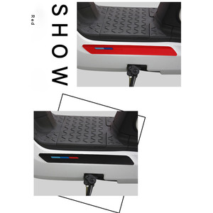 Image 2 - Silicone Anti collision Bar Strip For Niu M1 N1 N1S Universal Type Electric Scooters Potection Anti scratch Bar Sticker Strips