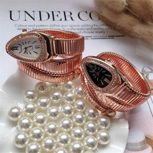 Image 3 - Cool Snake Bangle Watches Women Fashion Infinity Bracelet Watch Vogue Girls Brand Quartz Clock Religios Reloj Montre femme NW404