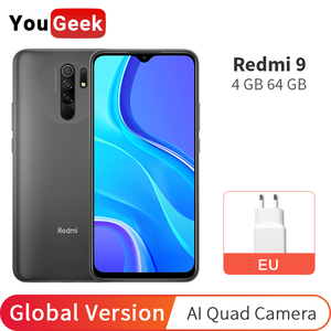 Global Version Xiaomi Redmi 9 4GB RAM 64GB ROM Helio G80 Octa Core 13MP Four Camera 6.53