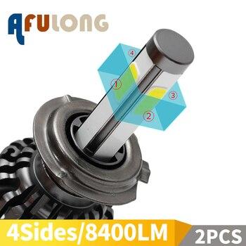 2PCS 4 Sides 6000K H7 led h4 H1 H8 HB2 H11 H3 HB3 LED Canbus 9005 9006 HB4 H9 Fog Lamp Car Headlight Bulbs 80W 8400LM 12V Light 2pcs 4 sides 6000k h7 led h4 h1 h8 hb2 h11 h3 hb3 led canbus 9005 9006 hb4 h9 fog lamp car headlight bulbs 80w 8400lm 12v light