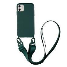 Силиконовый чехол на плечо с веревкой для iphone 12 11 pro max