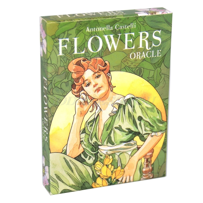 Flowers Oracle Card 38 Cards Deck Tarot Full English Family Party Board Game Astrology Divination Tarot Card Drop Shipping