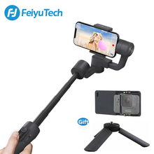 FeiyuTech Vimble 2 Feiyu 3 axes à main cardan Smartphone stabilisateur extensible pôle trépied pour iPhone X 8 XIAOMI Samsung