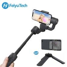 Feiyutech estabilizador de smartphone vimble 2 feiyu, estabilizador de cardan de mão, extensível, para iphone x 8, xiaomi e samsung