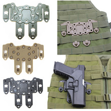 Military Airsoft Tactical Pistol Gun Holster Platform Adapter CQC Strike Molle Hunting Accessories