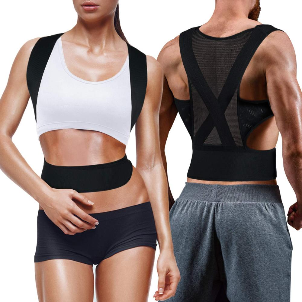 Aptoco Posture Corrector Protection Back Shoulder Posture Correction Band <font><b>Humpback</b></font> Back Pain Relief Corrector Breathable Brace image